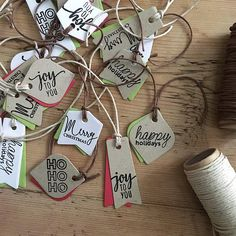 Mini messages Christmas gift tags