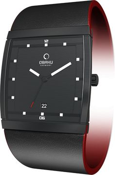 (Limited Supply) Click Image Above: Obaku Harmony Mens Analog Stainless Watch - Black Leather Strap - Black Dial - V102gbbrb