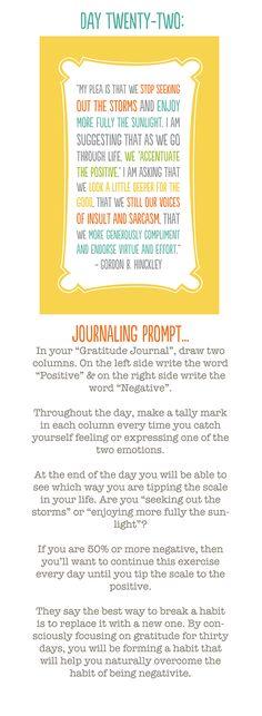 30 day challenge on gratitude ~ Day 22