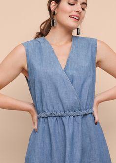 Sukienka jasny denim | VIOLETA BY MANGO
