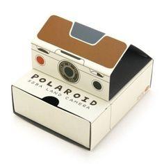 gratuitous Polaroid camera-shaped box, but isn't it damn sweet?