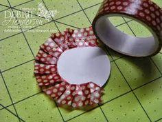 Debbie's Designs: Washi Tape Ruffles