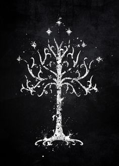 white tree gondor lord rings men west middle earth tolkien a Tree Of Gondor Tattoo, Lotr Tattoo, Tolkien Tattoo, Tree Of Life Symbol, Celtic Tree Of Life, Baum Von Gondor, Lord Of The Rings Tattoo, Lord Rings, The Lord Of The Rings