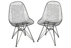 Eames-Style Side   Chairs, Pair on OneKingsLane.com