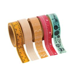"""Use this washi tape to make your paper projects """"sew"""" cool! This sewing-themed craft tape is ideal for handmade cards, scrapbook pages and more. Each roll includes 16 ft. of tap Washi Tape Storage, Washi Tape Crafts, Washi Tape Set, Duct Tape, Masking Tape, Paper Crafts, Scrapbook Supplies, Craft Supplies, Scrapbooking"""