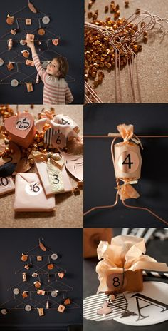 copper advent calendar