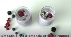 Smoothie lait d'amandes et fruits rouges
