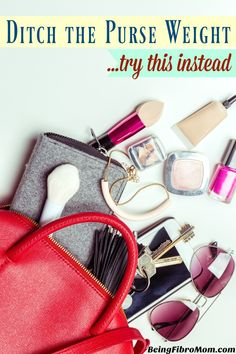 Ditch the purse weight and Try this instead #purse #fibroreview #beingfibromom http://www.beingfibromom.com/ditch-the-purse-weight/