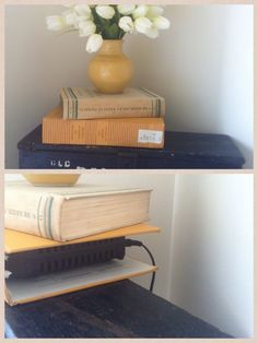 Clever disguise for hiding your wireless router in your organized office.