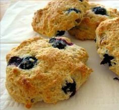 """Blueberry Scones: """"This recipe is awesome. These scones are a real treat that don't taste low in fat at all."""" -Chef #830946"""