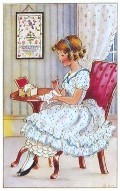 Vintage Needlework Illustration