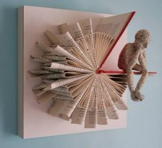 Trendy Ideas For Origami Paper Folding Book Art Diy Design, Design Page, Book Design, Design Ideas, Folded Book Art, Book Folding, Paper Folding, Book Crafts, Diy And Crafts