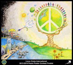 Finalist from Peru (La Molina Lions Club) - 2013-2014 Peace Poster Contest