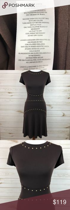 Michael Kors Brown Studded Dress NWT - Micheal Kors Brown studded fit and flare dress - Perfect Condition - Never Worn - See photos for washing instructions and materials KORS Michael Kors Dresses