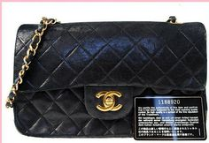 Vintage Chanel Black Leather Classic Flap Shoulder by gailparker4, $1552.00