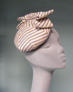 Jane Taylor- Bespoke Striped Cocktail Hat