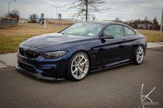 Grigio Telesto BMW M3 with FF01 in Liquid Black