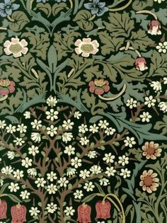 Click To Zoom In - Morris & Co Blackthorn Green (210409)