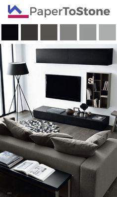 Living room color palette - black dark-grayish-cyan