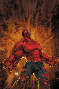 Red Hulk (Thunderbolt Ross) ~ art by Michael Turner