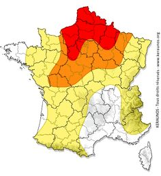 Prévision des orages, des tornades et de la grêle - Alerte aux orages - Bulletin de risque convectif France - KERAUNOS