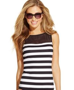 Lauren Ralph Lauren Mesh Striped Tankini Top $41.99 This sensational tankini top by Lauren Ralph Lauren is perfect for a resort getaway or a day-trip to the beach!