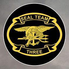 SEAL Team 3 - West Coast http://proartshirts.com/products/seal-team-3-stickers-0049 #seal #frogman #navy