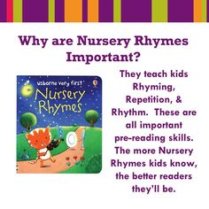Usborne Books and More has a wonderful selection of Nursery Rhyme books. Check them out here... https://g6796.myubam.com/search?q=nursery+rhymes