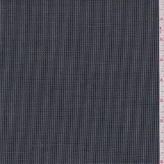 Navy blue, grey and blue miniature check. This tropical weight wool fabric has textured hand similar to gauze.Compare to $25.00/yd