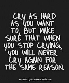 Cry and let go