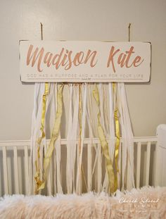 Nursery Name Sign Cu