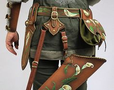 Leather quiver Rosehip / LARP SCA Medieval Archery