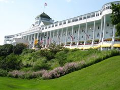 Grand Hotel, Macinac Island. America's finest historic hotel, complete with the best porch I've ever seen!