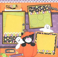 Boo Crew Halloween Scrapbook Premade Page by TopQualityScraps 29.99 2 page