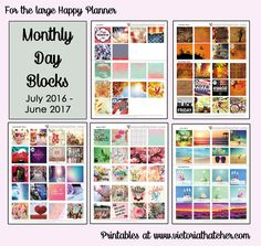 Free Printable Stickers: Monthly Day Blocks for The Happy Planner from Victoria  Thatcher