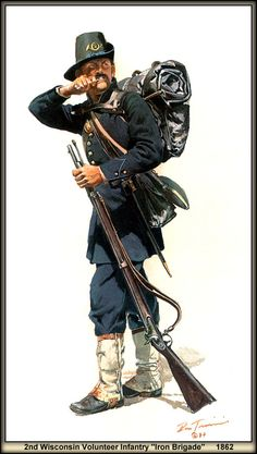 """2nd Wisconsin Volunteer Infantry """"Iron Brigade"""" 1862 by artist Don Troiani"""