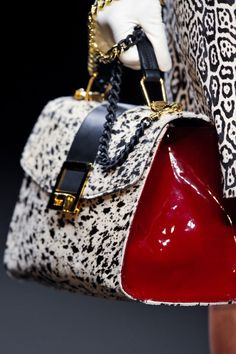 Angelo Marani at Milan Fashion Week Fall 2013 - StyleBistro. Thus Devine - love the red w/ spots!