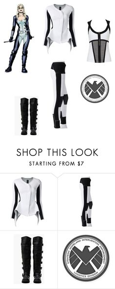 """""""Bobbi Morse"""" by sistervsmonster ❤ liked on Polyvore featuring Gareth Pugh and adidas"""