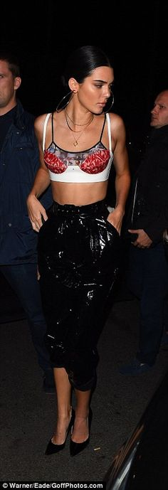 Bravo: Kendall added a pair of bizarre cropped PVC pants to her ensemble