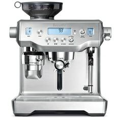 Breville the Oracle™ the Dual Boiler™ Coffee Machine BES980 is the world's first automatic manual espresso machine that brings true cafe quality to your home without the barista. The Oracle is simpler, with automatic grinding, dosing, tamping and milk texturing; faster, provides the taste benefits of a manual with the simplicity of an automatic | Appliance Warehouse. Free delivery to most of areas in the metro regions. Visit in store for more details.