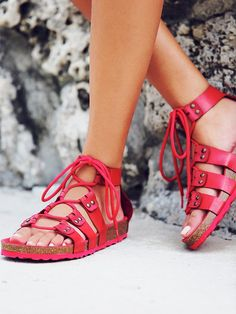 Jeffery Campbell Pasadena Lace Up Footbed at Free People Clothing Boutique