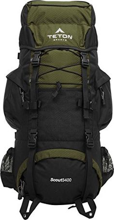 TETON Sports Scout 3400 Internal Frame Backpack, Hunter Green