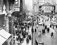 Herald Square has a history of being filled with Christmas shoppers.