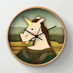 Mona Lisa Unicorn Wall Clock