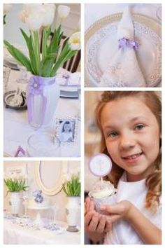 First Communion Party Ideas {Lovely ideas for Jumping Bean's baptism party}