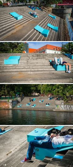 Reinvigorating Wroclaw's Riverside With Site-Specific Chair Installations #Streetfurniture