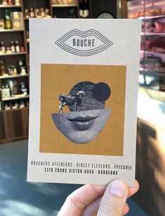 Bouche postcard by (Ma+Chr) Victor Hugo, Bordeaux, Identity, Display Design, Illustration, Packaging, Creative, Projects, Log Projects