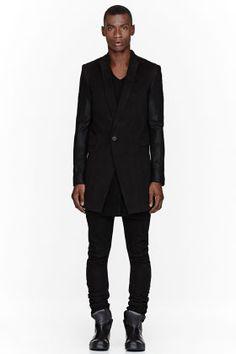 Julius Black Angora Beaver Coat for men |