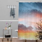 Found it at AllModern - Bird Wanna Whistle Bird Line Shower Curtain