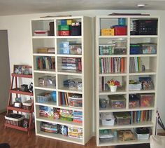 homeschool room - create reading cubby behind bookcases for kiddo to spend quiet time in.